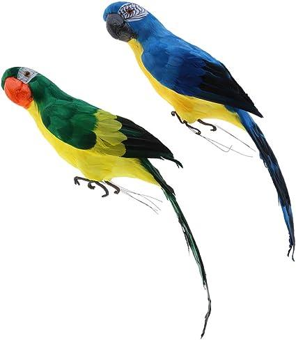 Foam Feather Artificial Parrots Imitation Bird Model Outdoors Garden Decoration√
