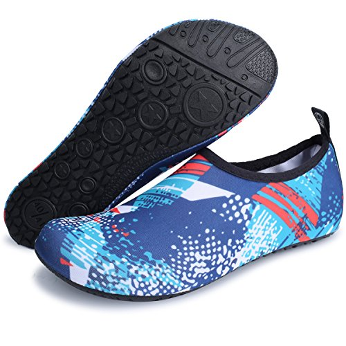 Womens Exercise for Beach JIASUQI Graffiti Shoes Mens Yoga Blue Water and Swimming Socks Aqua Outdoor A7w7zd8H