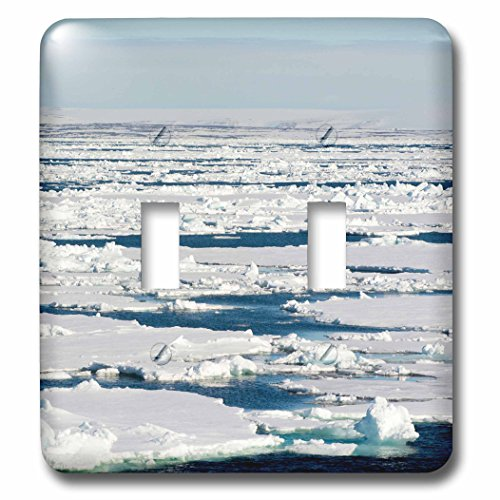 Double Extending Table - Danita Delimont - oceans - Norway. Svalbard. Drift ice extending to the horizon. - Light Switch Covers - double toggle switch (lsp_227790_2)