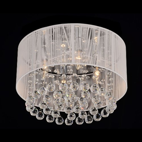 Jojospring Flushmount 4-light Chrome Chandelier