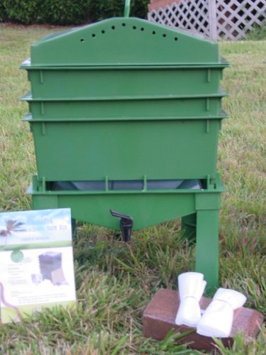 4-Tray Worm Compost Bin iTower-Green by VermiHut