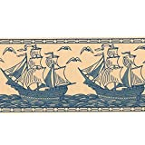 Borders - Blue Boats - B042.01 - Border by Borders