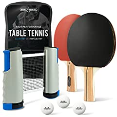 Want to play ping pong but don't have a proper table? This all-in-one ping pong kit comes with a portable net so you can play anywhere, anytime, on ANY table! Whether on your dining table or in your office, now you can have a popup ping pong ...