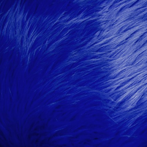 Blue Rug Royal (Royal Blue Shag Faux Fur Fabric 60