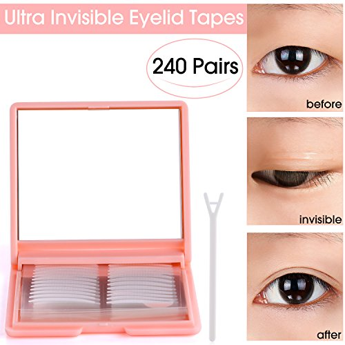 480Pcs Ultra Invisible Fiber One Side Eyelid Tapes Stickers - Double Eyelid tapes - Instant Eyelid Lift Without Surgery, Perfect for hooded, droopy, uneven, or mono-eyelids(Slim) (Lift Surgery Eyelid)