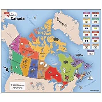 Map Of Canada For Grade 3.Amazon Com Cobble Hill Puzzle Company Kids Map Of Canada 3