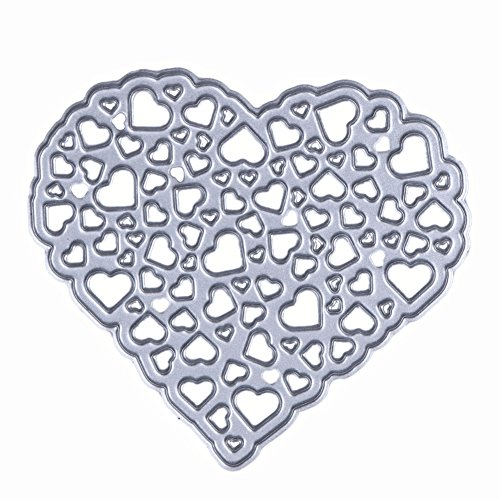 1Pcs Metal Cutting Dies Hollow Out Heart Stencil Embossing - 1
