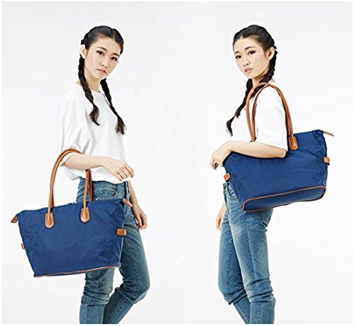 Tibes Bolso de compras simple del bolso de la manera para las mujeres A2 Azul zafiro