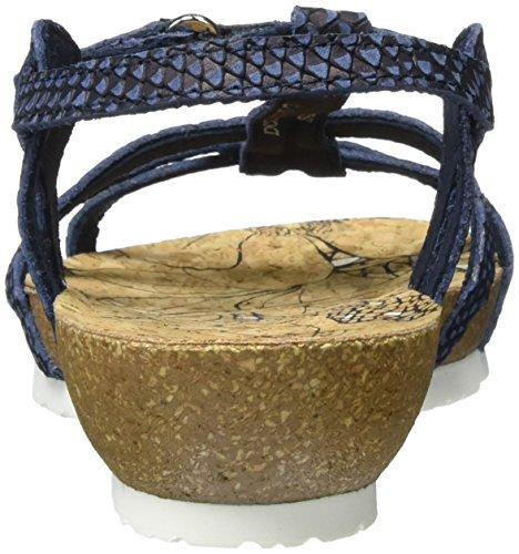 Panama Jack Dori Snake, Sandalias con Cuña Para Mujer Azul (Navy)