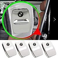 Hisport 4PCS Stainless steel Door lock Cover Car Door Striker Cover Fit BMW Accessories