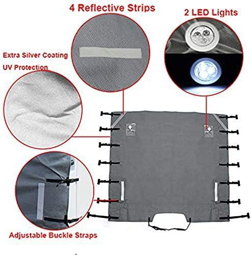 Funda protectora para caravana Kamenda 2 luces LED para autocaravanas y autocaravanas