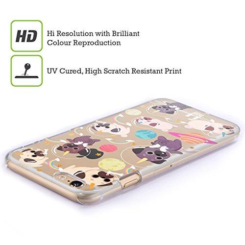 Head Case Designs Mops Raum Einhorn Ruckseite Hülle für Apple iPhone 5 / 5s / SE