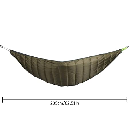 Hammock Underquilt, Packable Full Length Under Blanket Camping Quilt Sleeping Bag Ultralight Winter,Thickened Windproof Warm Hammock