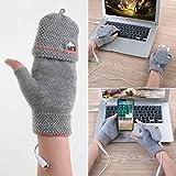 Unisex Women's & Men's USB Heated Gloves Mitten