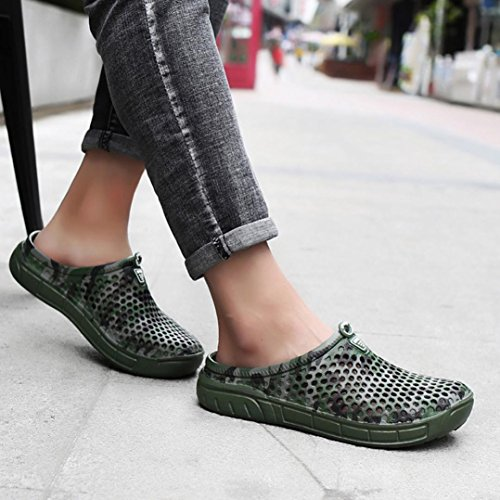 Drying Shoes Out Army Quick Breathable Mens Fheaven Green Beach Summer Slipper Outdoor Sandals Flat Hollow xFI1T7