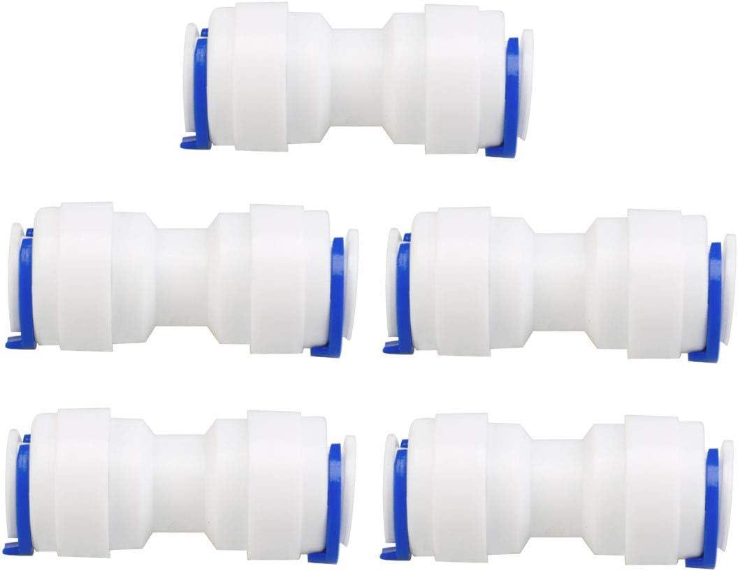 3//8 pulgadas OD derecha conexi/ón r/ápida purificador de agua tubo empalmes push conector manguera manguera de agua para sistema de /ósmosis inversa 5 unidades