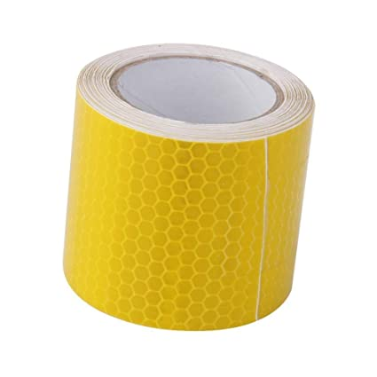 NEW SAFETY WARNING INTENSITY REFLECTIVE TAPE ROLL FILM DIY TAPE