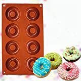 jelly donut pan - Silicone Baking Donut Doughnut Cake Chocolate Soap Jelly Mold Mould Pan Tool 6L 8 cavity