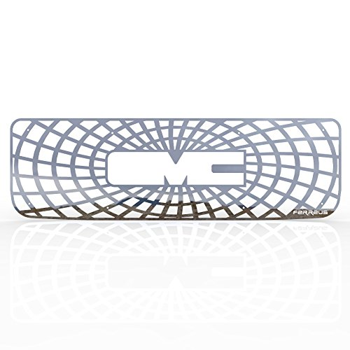 Ferreus Industries Grille Insert Guard Spiderweb Polished Stainless fits 1994-1998 GMC Yukon TRK-127-07-Chrome-d