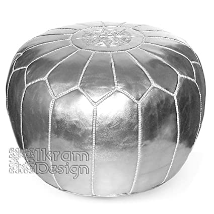 Amazon Moroccan Leather Pouf Silver Moroccan Poufs Ottoman Fascinating Nuloom Moroccan Pouf