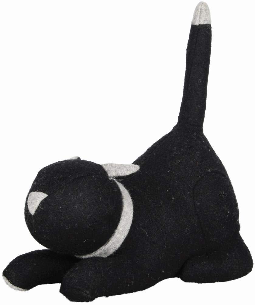 26,4 x 14,2 x 30,5 cm in schwarz Rivanto/® T/ürstopper Katze lustiger T/ürkeil mit aufgestelltem Schwanz 1,5 kg ca
