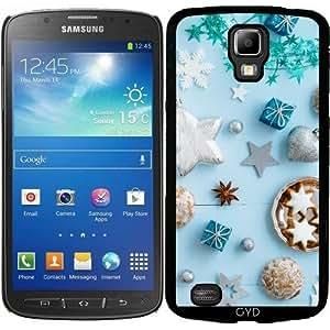 Funda para Samsung Galaxy S4 Active i9295 - Decoración De Navidad Azul En W by Elisabeth Coelfen
