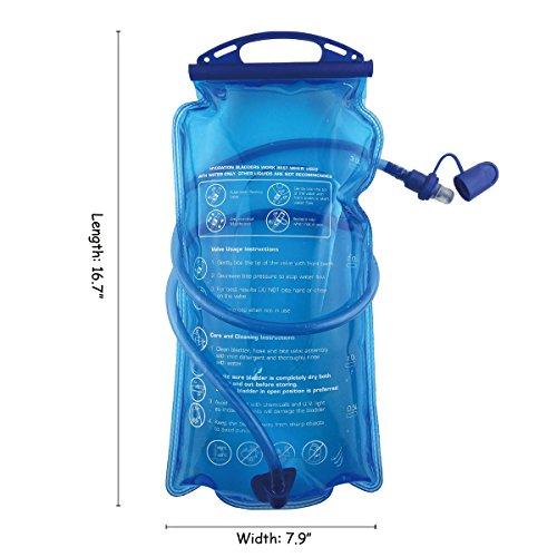 Hydration Bladder, 3L Water Bladder BPA Free, 3 liter Large Opening Water Reservoir, Leak Proof Military Insulated Water Storage Bladder Bag for Cycling Hiking Camping Biking Running Climbing Walking by Joyhill (Image #3)
