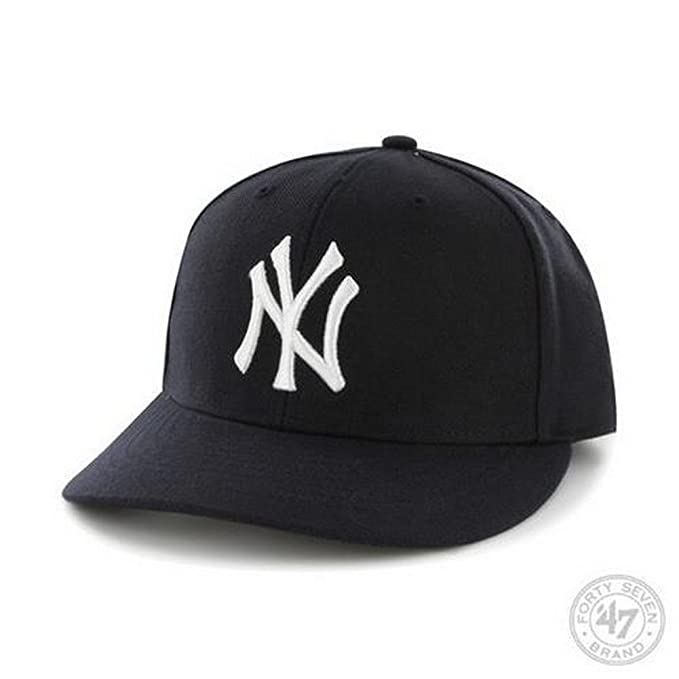 019fe6b419c1df Amazon.com : MLB New York Yankees Men's '47 Brand Home Bullpen MVP Cap,  Navy, One-Size : Sports Fan Baseball Caps : Clothing