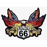 Patch escudo águila Route 66para BLOUSON–Chaqueta y chaleco Biker