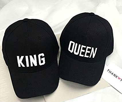 e44342d8c82 Amazon.com  Sufang Men and Women Fashion QUEEN KING Basdeball Cap ...