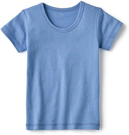 【子供肌着・通園・通学】半袖インナー3枚セット ブルー