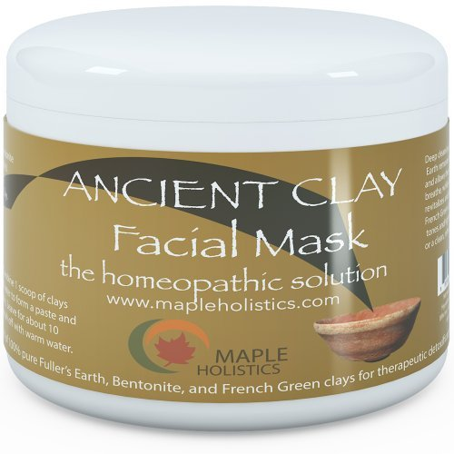 Pure Clay Mask Treatment - 100% Pure French Green Bentonite and Fullers Earth Clay Combination - Highest Grade & Quality with Natural Potency - For Men and Women - Great for all skin complexions - Fully Guaranteed By Maple Holistics