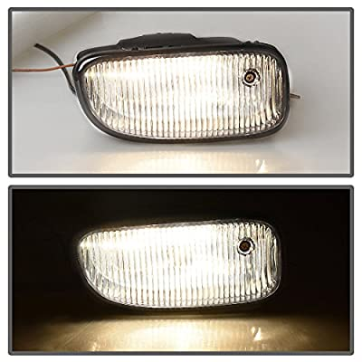 Fog Lights Compatible with Jeep Grand Cherokee 1999 2000 2001 2002 2003 (OE Style Clear Lens w/ H12 12V 53W Bulbs): Automotive
