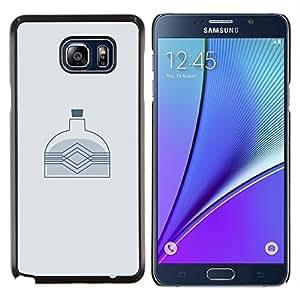 Caucho caso de Shell duro de la cubierta de accesorios de protección BY RAYDREAMMM - Samsung Galaxy Note 5 5th N9200 - BOTELLA MINIMALISTA