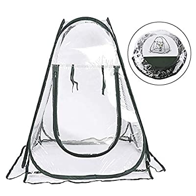 Portable Pop-up Greenhouse Gardening Plant Cover Shelter Small Foldable PVC Protected Plant House Backyard Garden Tent for Grow Seeds Seedlings Cold Frost Insects Birds Protector from Sport Fun