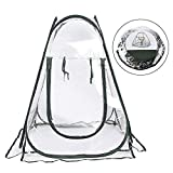Portable Pop-up Greenhouse Gardening Plant Cover Shelter Small Foldable PVC Protected Plant House Backyard Garden Tent for Grow Seeds Seedlings Cold Frost Insects Birds Protector, 27''x27''x31''