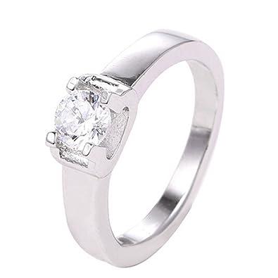 Amazon Com Legenstar Copper Jewelry Zircon Ring Birthstone Women