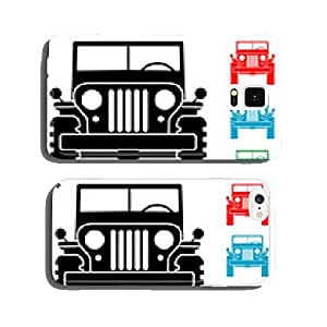 Pictograph frontal military jeep in various colors cell phone cover case iPhone5