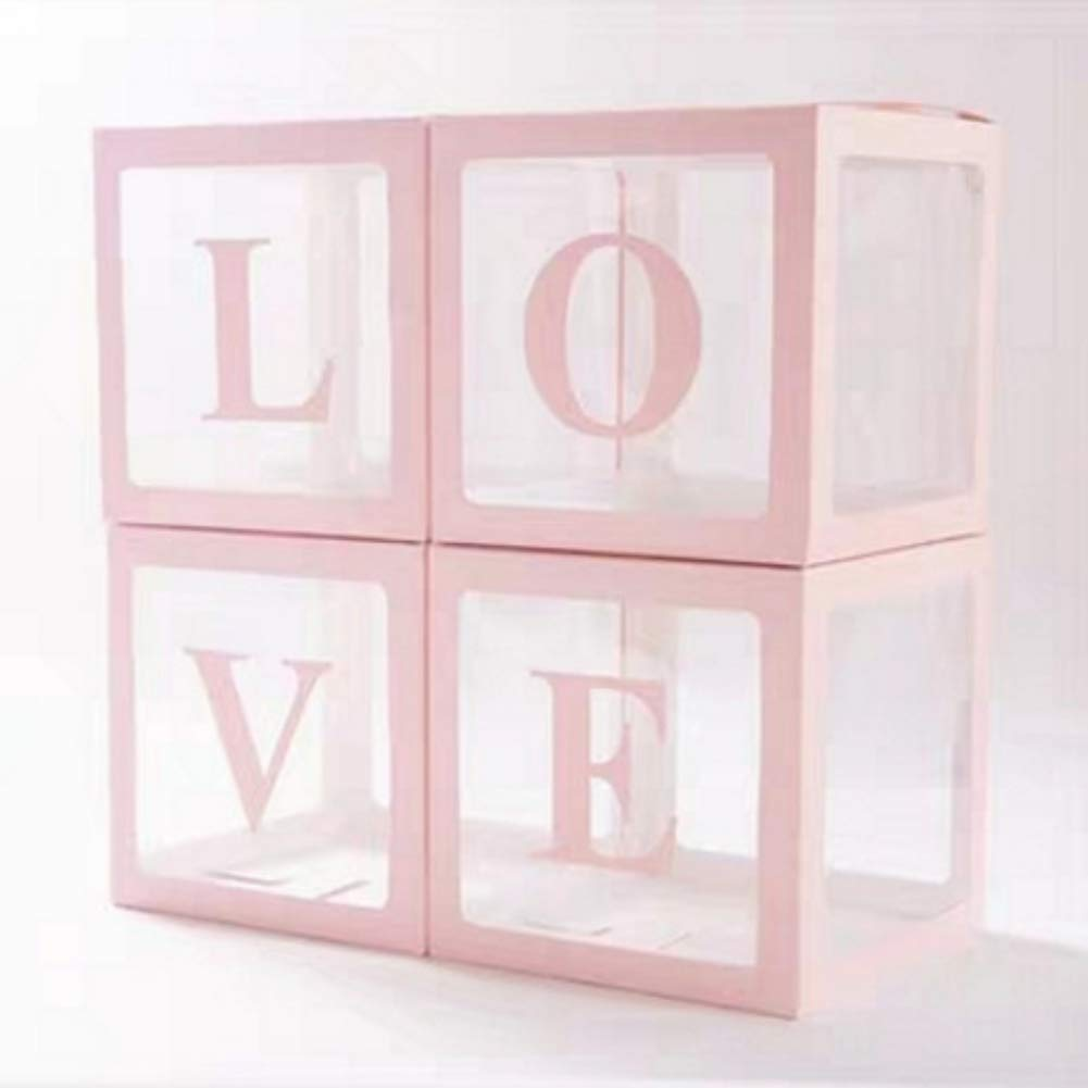 made from 3mm Clear Plastic For Sale 4 Blocks 30cm Cubes Baby Blocks Clear
