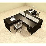 two person l shaped divider office workstation desk set otsulsp56
