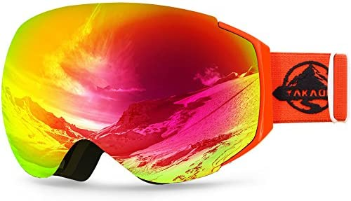 cdb344e26c6 Amazon.com : YAKAON Y Series Ski Goggles Snowboard Frameless Spherical UV  Protection Anti-fog Lens for Men Women : Sports & Outdoors