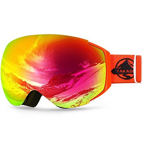YAKAON Y Series Ski Goggles Snowboard Frameless Spherical UV Protection Anti-fog Lens for Men Women