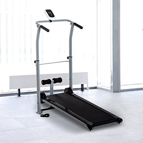 Soozier Folding 2-in-1 Manual Walking Incline Treadmill and Sit Up Exercise Machine by Soozier (Image #2)