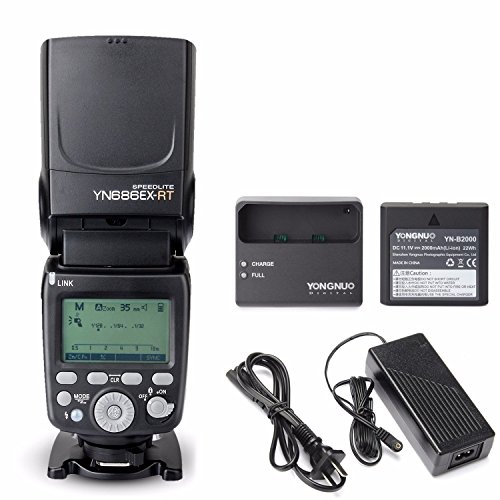 YONGNUO YN686EX-RT Lithum Battery Wireless Flash Speedlite with Optical Master and TTL HSS for Canon