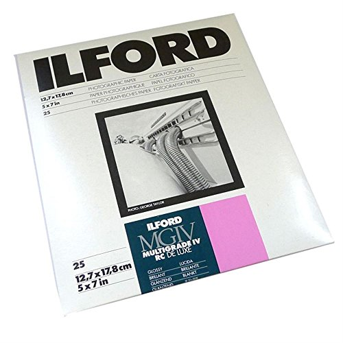 - Ilford 5x7 Multigrade 1M B&W Paper, Glossy Surface, 25 sheets