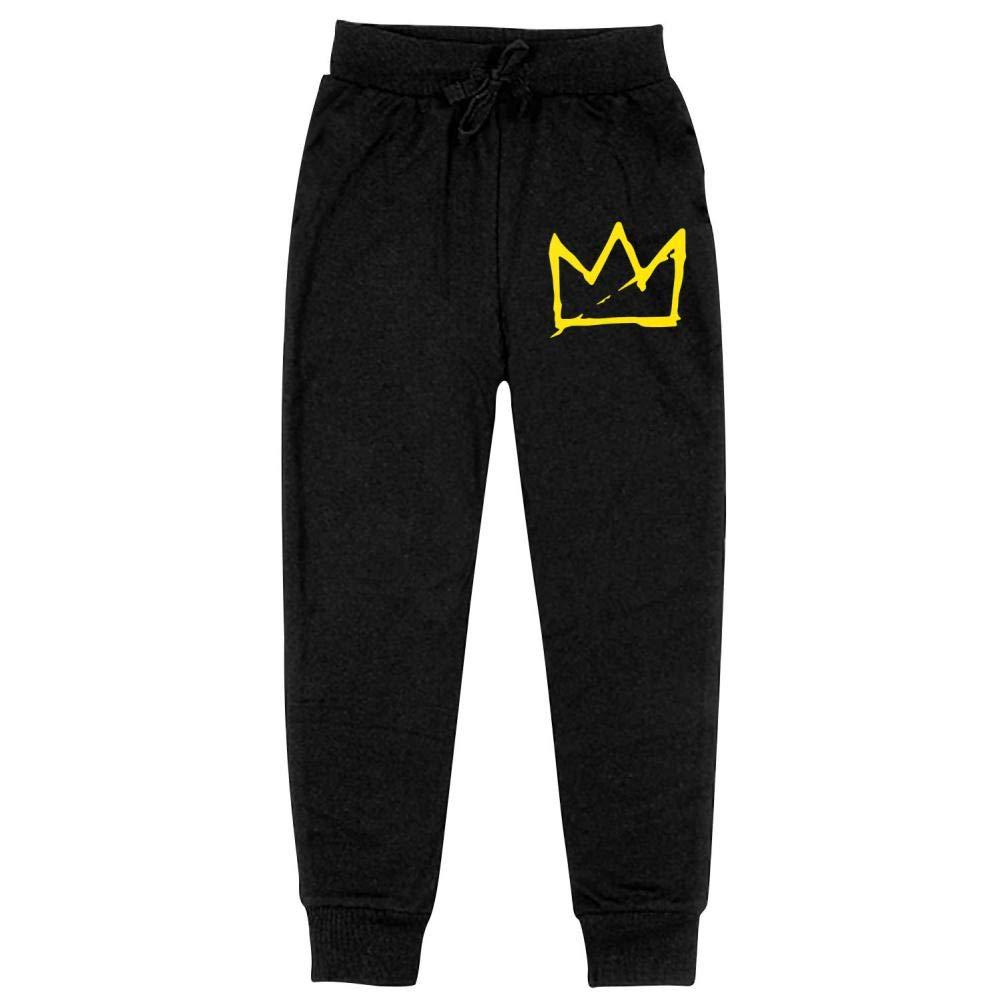 AolaZW Basquiat Crown Cotton Sweatpants Unisex Kids Casual Long Sport Pants
