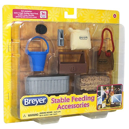 Breyer Classics Stable Feeding Horse Accessories Set (Breyer Barn And Horses)