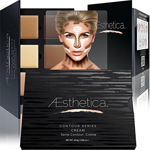 Aesthetica-Cosmetics-Cream-Contour-and-Highlighting-Makeup-Kit-Contouring-Foundation-Concealer-Palette-Vegan-Cruelty-Free-Hypoallergenic-Step-by-Step-Instructions-Included