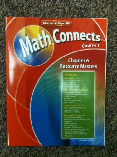Glencoe McGraw-Hill Math Connects Course 1, Chapter 6 Resource Masters ISBN 9780078810244 PDF