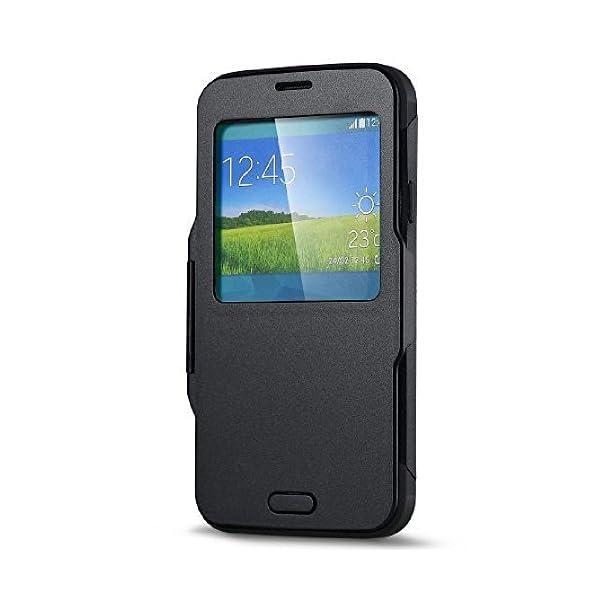 MUZZANO F1409366 - Funda para Samsung Galaxy S5, Color Negro 2